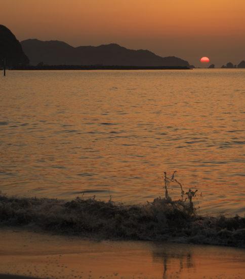 延岡夜明けの海